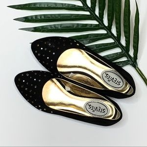 Soft microfiber black pointed toe flats
